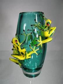 verre murano vase murano vase grenouilles