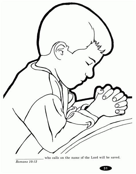 Children Praying Coloring Page Coloring Home Praying Coloring