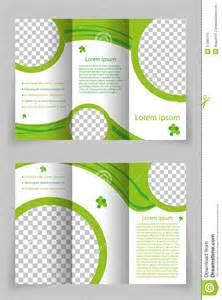 vector brochure template design with green element stock