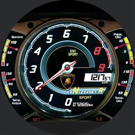 lamborghini aventador speedometer lamborghini aventador instrument panel watchfaces for