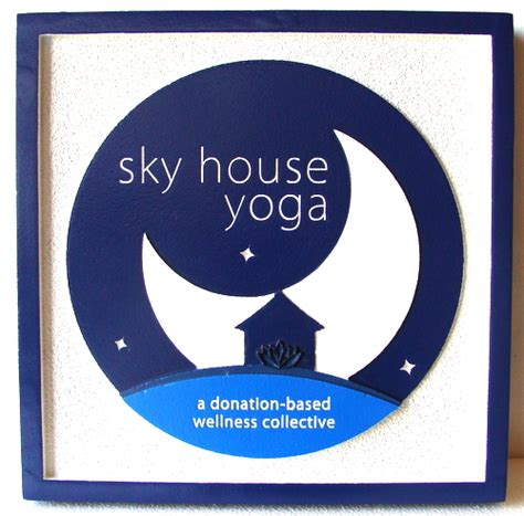 sky house yoga physician doctor medical health and pharmacy signs plaques