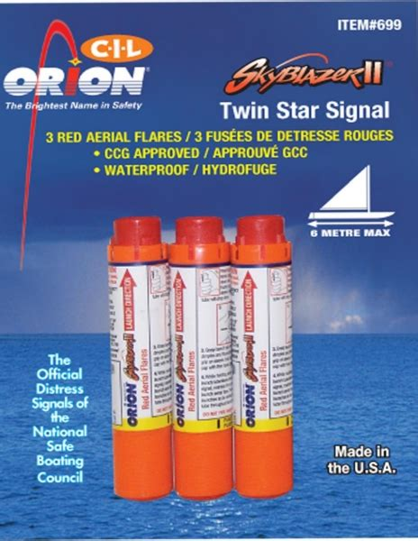 boat safety flares canada aerial flare rd 3 pack by orion part no cil 3 canada