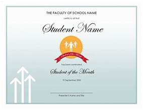 Free Award Certificate Templates For Students by Student Of The Year Award Template Free Layout Format