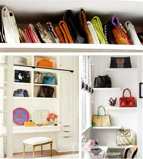 Bags Closet by 40 Handbag Storage Solutions And Home Organizers For Small