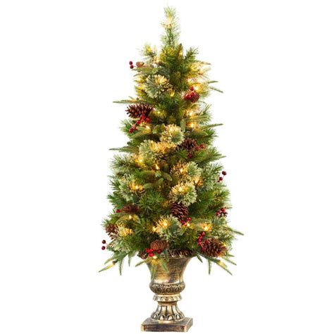 4 ft christmas tree with lights national tree company 4 ft white iridescent tinsel