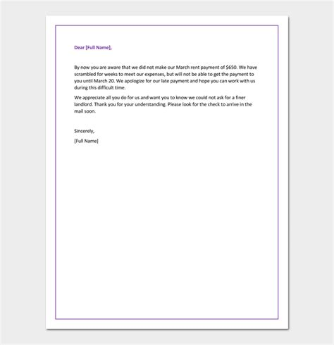 Letter For Rent Delay apology letter for late payment 4 sles exles formats