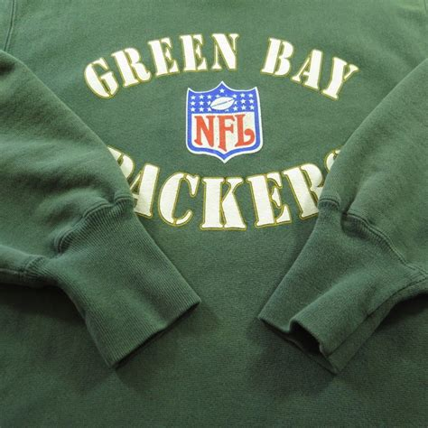 green bay packers l vintage 90s green bay packers chion sweatshirt mens l