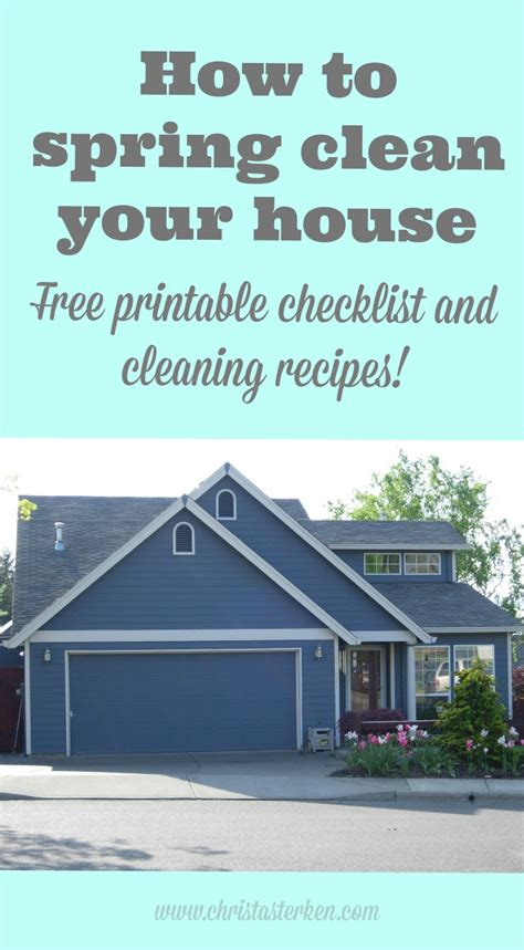 how to spring clean your house how to spring clean your house free printable checklist