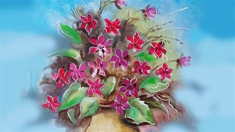 pittura fiori fiori in vaso lezione di pittura a olio how to draw