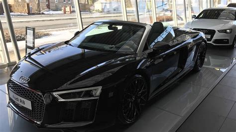 AUDI R8 SPYDER V10 5,2 FSI !! NEW MODEL 2017 !! BLACK COLOUR !! WALKAROUND AND INTERIOR !! YouTube
