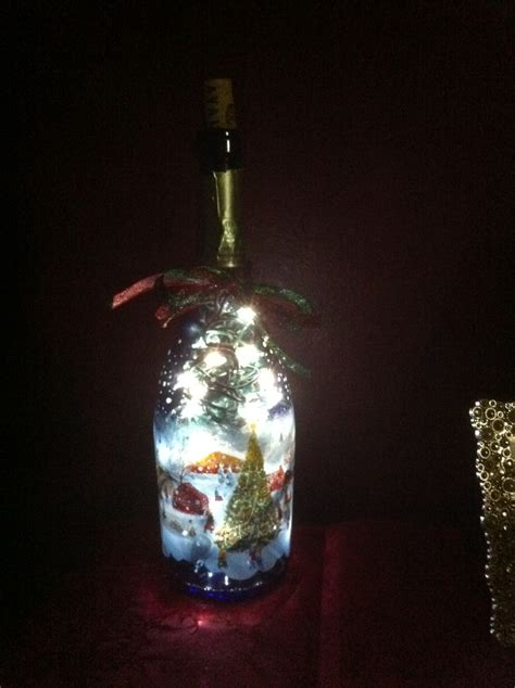 christmas lights in a wine bottle wine bottles pinterest