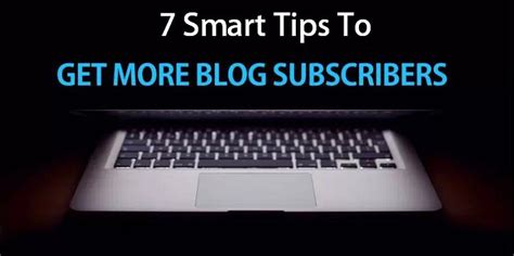 7 Tips On That Will Get Hits by 7 Tips To Get More Subscribers For Your Ingenium Web