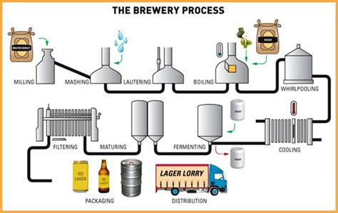 brewing flowchart brewing and distilling process ibd asia pacific
