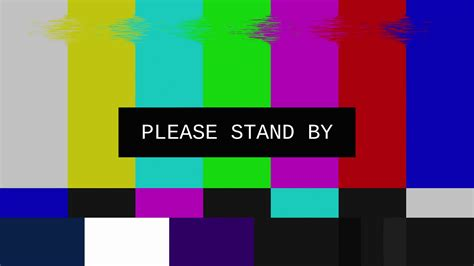 stand by smpte color bars glitch stand by glitched