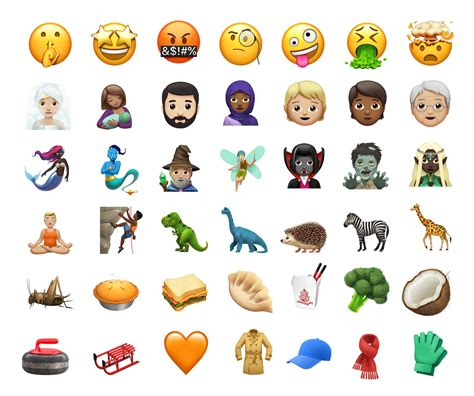 emoji new new emojis in ios 11 1
