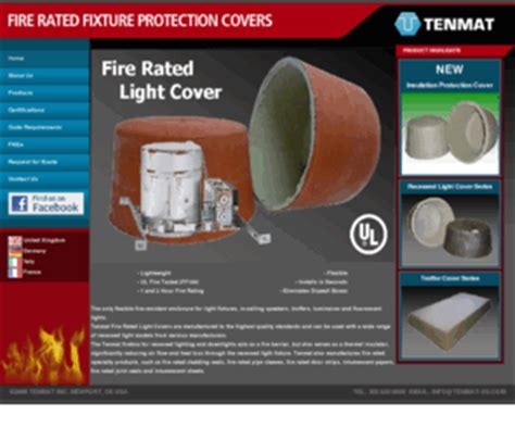 fire rated light enclosure fire rated light com tenmat fire rated light protection