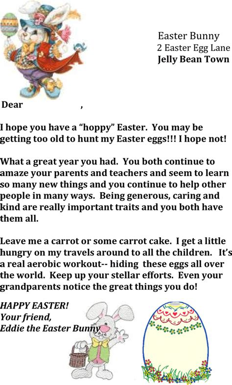 letter to the easter bunny template free easter bunny letter template 2 formxls