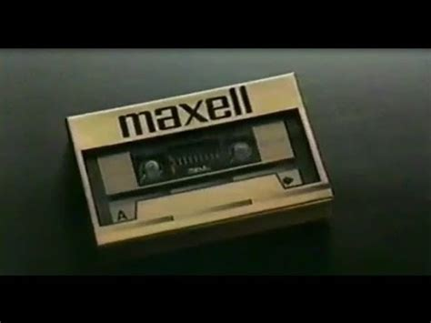 maxell cassette ad 1985 ad for maxell audio cassette