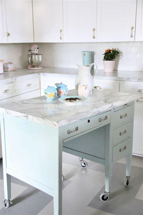 Kitchen Island Office Desk Turn A Desk Into A Kitchen Island House