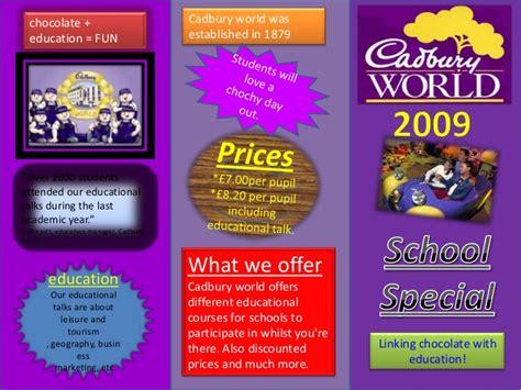 leaflet design ks2 leaflet template cadbury world