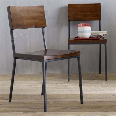 Metal And Wood Dining Chairs Loft American Country To Do The Retro Style Dining Chairs Wrought Iron Wood Chair