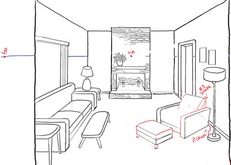 room drawing how to draw a room with perspective drawing tutorial of a