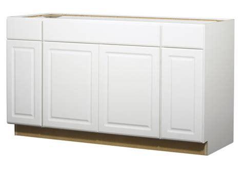 Value Choice 60 Quot Ontario White Standard 4 Door Sink Base Menards White Kitchen Cabinets