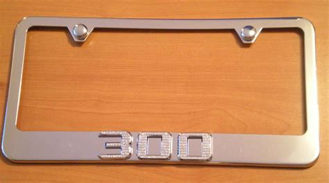 chrysler 300 chrome license plate frame w iced out emz