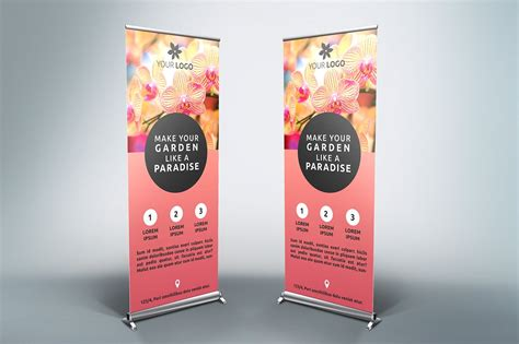templates for roller banners flower roll up banner sb banners and fonts