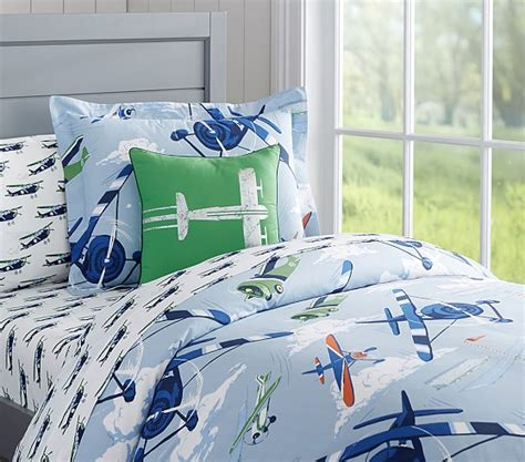 Pottery Barn Airplane Crib Bedding Vintage Airplanes Duvet Cover Pottery Barn