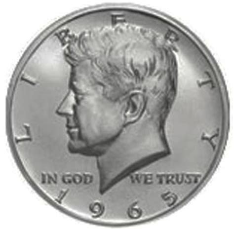 composition of dollar coin kennedy half dollars 40 silver composition 1965 1970