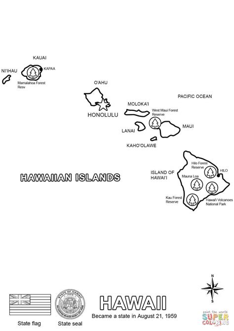 coloring page map of hawaii hawaii map coloring page free printable coloring pages