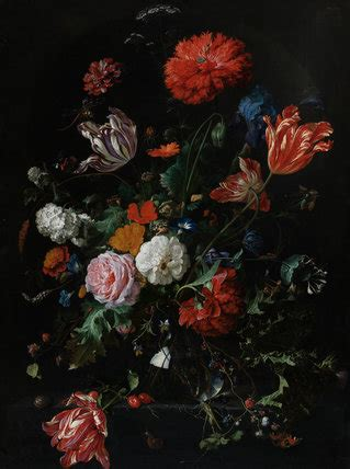 Vase Of Flowers Jan Davidsz De Heem Flowers In A Glass Vase By Jan Davidsz De Heem By Heem