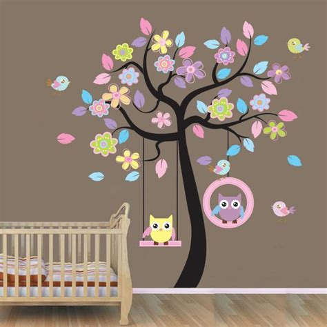 owl bedroom wall stickers diy wall stickers owl tree removable vinyl art baby