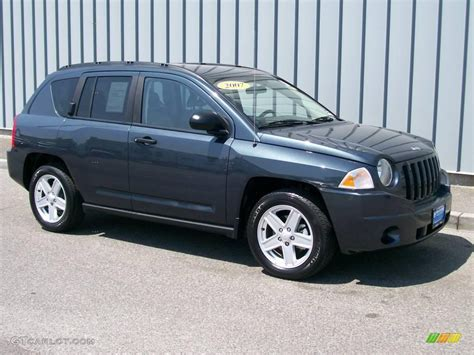 gray jeep compass 2007 steel blue metallic jeep compass sport 1085809