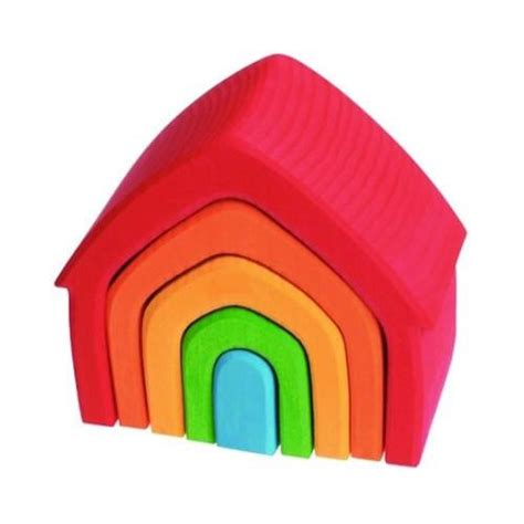 nesting house grimm s spiel und holz rainbow nesting house oompa toys