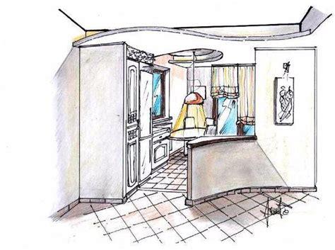 disegno di una cucina cucina aperta sul salone progetto