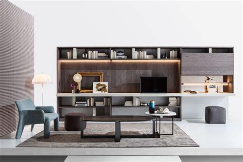 soggiorni molteni angolo studio in soggiorno integrato nella libreria o in