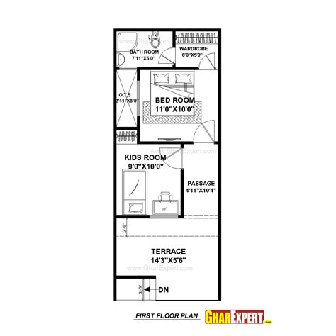 house design 15 30 house plan for 15 by 50 plot plot size 83 square yards gharexpert