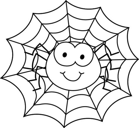 Halloween Coloring Pages Spider Web | spider in spider web coloring page plantilles variades