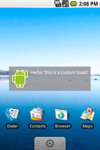 custom layout in notification android creating toast notifications android developers