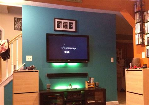 tv mounting ideas in living room hang tv and sound bar use stand for deco living room