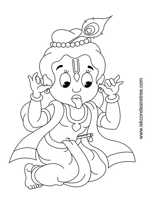 coloring pages of baby krishna baby krishna free coloring pages
