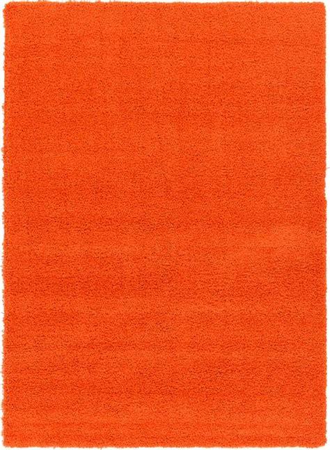 solid orange rug tiger orange 213cm x 305cm solid shag rug area rugs au rugs