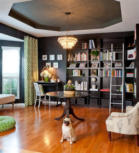Converting A Formal Dining Room Into A Bedroom Before After Dining Room Turned Library Design Sponge