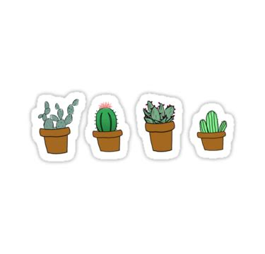 quot cactus drawing quot stickers by youtuber club redbubble