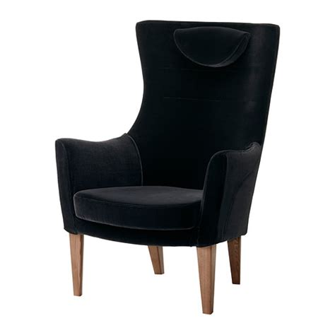 high back armchairs stockholm high back armchair sandbacka black ikea