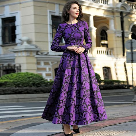 Fashion Find Purple Accessory For Fall 2006 by 2016 M 3xl Fall Winter Vintage Flowers Plus Size