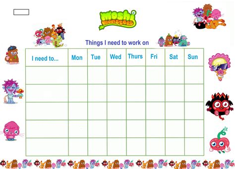 free printable reward charts for 6 year olds printable reward charts for kids kiddo shelter