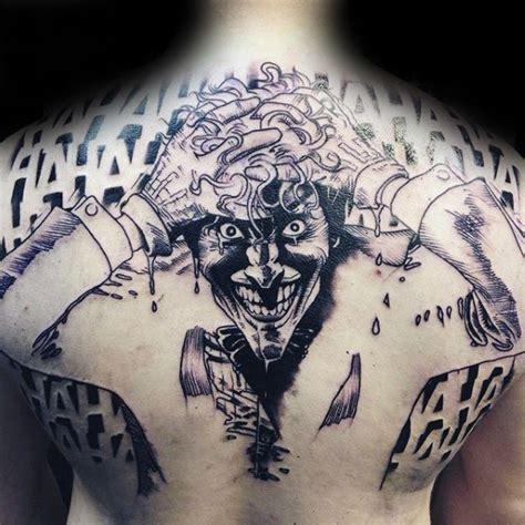 joker tattoo back 90 joker tattoos for men iconic villain design ideas